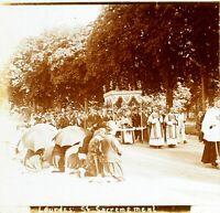 FRANCE Lourdes Saint-Sacrement, Photo Stereo Vintage Plaque Verre VR6L5