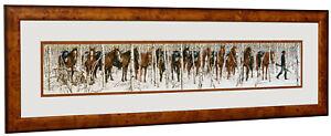 Bev Doolittle - Two Indian Horses - Matted & Framed Open edition Art Print