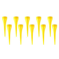 10 Pack Stable Golf Tee Pin Cup Shape Golf Tees Replacement Yellow 2-1/8''