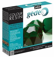 Pebeo Gedeo Jade grün Farbe Harz & Härtemittel 150ml Set Transparent Kristall