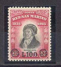 SAN MARINO 1948 Delfico soprastampa 1 val INTEGRA LUSSO