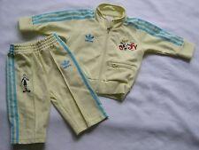 RARE~Adidas SP GOOFY DISNEY firebird Track Suit Jacket Top-Pant superstar~KID 9M
