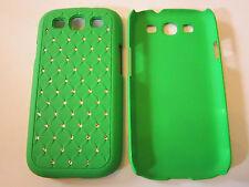 Green Diamond Bling Designer Hard Plastic Samsung Galaxy S3 SIII i9300 Case