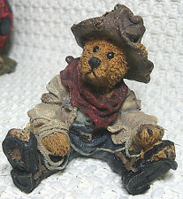 Boyds Bears & Friends, Bearstone Collection, Hop-a-Long Deputy (#2247), 1994