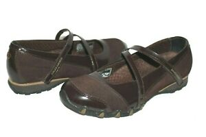 ❤️SKECHERS Bikers Chocolate Suede Patent Leather Mary-Jane 8 EXCELLENT! L@@K!19