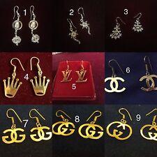 Nueva Marca: 22k oro y plata plateado aro pendientes de hadas - 9 Diseños-Elija uno