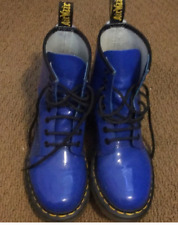 DR. MARTENS WOMENS 11821 8 EYE LACE-UP BOOTS BLUE size 6 docs NEW