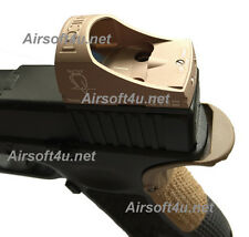 Airsoft CNC Tan Docter Sight III Style Mini Red Dot Sight For G17,G18,G34 Mount