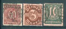 Gestempelte Dienstmarken aus dem deutschen Reich mit Echtheitsgarantie