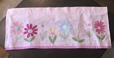 New ListingPair of 2 Pottery Barn Kids Pink Floral Daisies Valances Curtains Nursery
