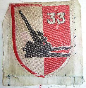 Original Silk Patch - 33rd ARTILLERY Bn - ARVN 3rd INFANTRY - Vietnam War - 3952