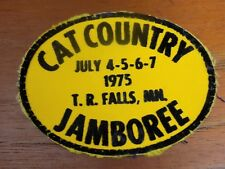 VTG 1975 Cat Country Jamboree Patch Thief River Falls MN Arctic Cat Truckers Hat