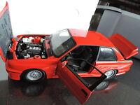 BMW M3 E30 serie 3 Rouge 1/18 MINICHAMPS