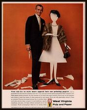 1962 E AD  WEST VIRGINIA PULP AND PAPER   PRINTING PAPERS MANNEQUIN MINK