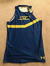 Under Armour Sc Stephen Curry Blue Basketball Jersey Tank Men's Size Lgt/G Long