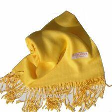 Echarpe étole châle  scarf  soyeuse 100 % pashmina top qualité  jaune soleil