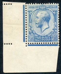 1917 2½d pale milky blue wmk Royal C unused o.g. Spec No N21(7).