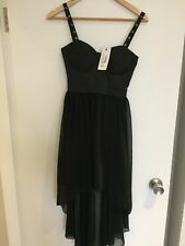 NEW w Tags - Rare London (Topshop) Stud Strap Dip Hem Dress Size 6