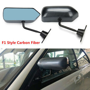 Universal F1 Style Carbon Fiber Color Car Vehicles Racing Side Rear View Mirrors