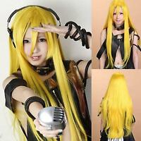 VOCALOID2 Lily , jaune long raide animation Cosplay fête plein cheveux perruque