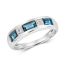 Eternity Ring London Blue Topaz and Diamond White Gold  Appraisal Certificate