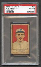 1919-21 W514 Bob Shawkey #29 PSA 4 VG-EX Hand Cut New York Yankees