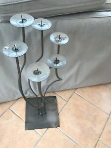 Tall floor standing candle holder