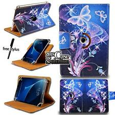 """For Various 8"""" 10"""" Samsung Galaxy Tab/Note - Leather Rotating Stand Cover Case"""