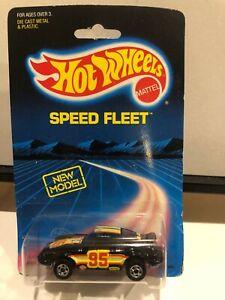 1/64 HOT WHEELS SPEED FLEET PORSCHE 911 BLACK VINTAGE 1988