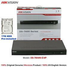 Hikvision 4Ch H.264 Nvr/4-PoE/1Tb Hdd Built-in/Us English Version/Free Shipping