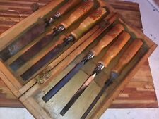 Vintage Supreme W Germany Quality Wood Chisel Set In Wood Case Drop Forced