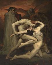 Dante and Virgile William Adolphe Bouguereau Kampf Inferno Nackt Mann B A3 03458