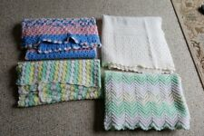 4 Vintage Hand Crocheted Baby Afghans - BEAUTIFUL, varying sizes