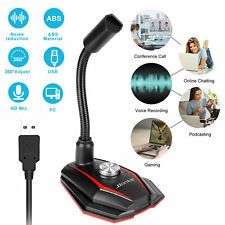 USB 360°Condenser Microphone Stand Mic Recording for Computer PC Laptop Desktop