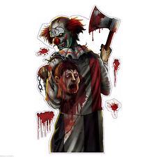 Killer Clown Halloween Creepy Carnival Circus Party Wall Grabber Decoration