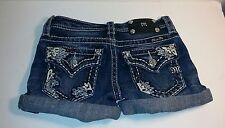 Girls Miss Me Shorts JK7553H - Denim Medium Blue Jean Shorts - Size 10 - GUC