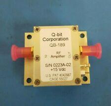 RF Amplifier, 15VDC, Q-BIT CORP, QB-189