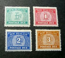 New Zealand Stamp Scott#  J22-J25  Postage Due 1939 MH  C551
