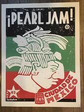 PEARL JAM POSTER 2003 TOUR  AMES BROS MEXICO CITY EDDIE VEDDER