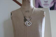 Stunning Sterling Silver Danish Simple Twist Pendant & Chain