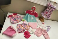 "Lot of Doll Clothes Fits 15"" Bitty Girl Baby or Twins Doll 13 pcs"
