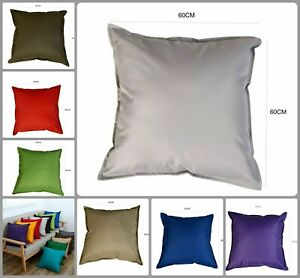 "24"" Large GREY Outdoor Scatter Cushion Waterproof Cover Garden with 26"" FILLING"