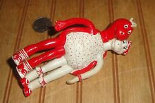 Vintage 1988 APPLAUSE Rubber Bendable Bendy 2-Headed Valentines Day Toy Figure