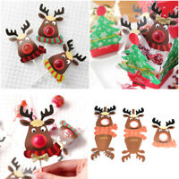 25pcs Christmas Reindeer Lollipop Sticks Paper Candy Paper Decor Chocolate Cake