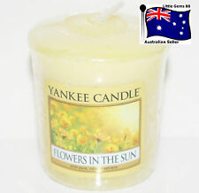 YANKEE CANDLE * Flowers In The Sun * Votive Candle SCCENTED 15 HOURS BURNING
