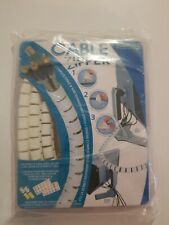 "Evriholder Cable Zipper Organizer, Medium, White, 8ft, 1/2"" Diameter"