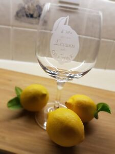 """Personalised Engraved Spanish Gin Tonic Glass - """"When Life Gives You Lemons.."""""""