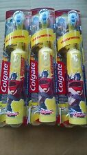 3 PACKS COLGATE TRANSFORMER BATTERY TOOTHBRUSH KIDS EXRA SOFT YELLOW