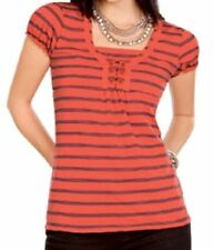Square Neckline Striped Blouses for Women