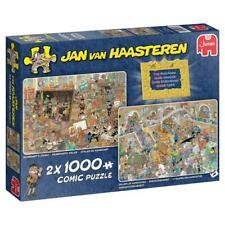 Jumbo 20032 Jan van Haasteren Ein Ausflug ins Museum 2x 1000 Teile Puzzle